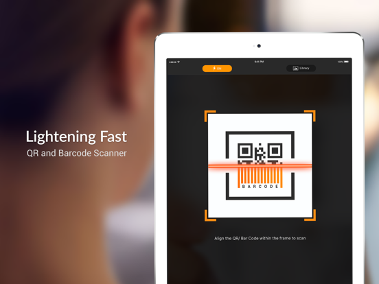 Screenshots of QR Scanner - QR Code Reader and Barcode Scanner for iPad