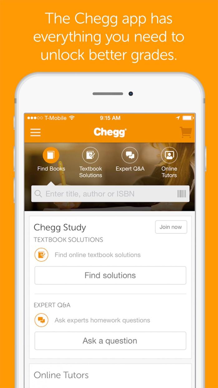 Chegg: Textbook Rental, 24/7 Homework Help + More Screenshot