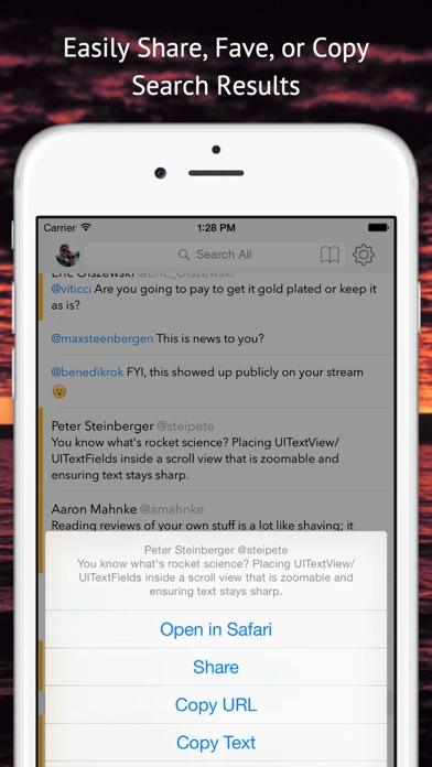 Tweet Seeker Screenshots