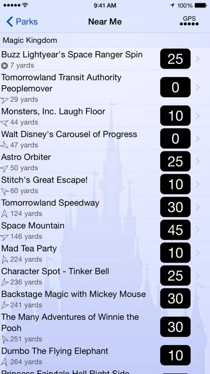 Wait Times for Disney World screenshot-3