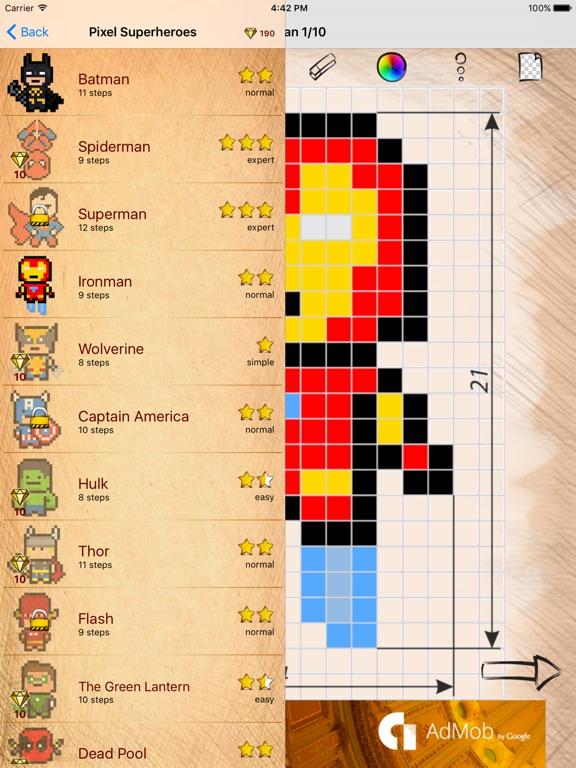 Télécharger Apprendre à Dessiner Pixel Art Super Héros Pour