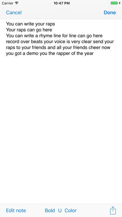 Rap Song Creator screenshot-4