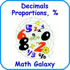 Activities of Math Galaxy Decimals, Proportions, %