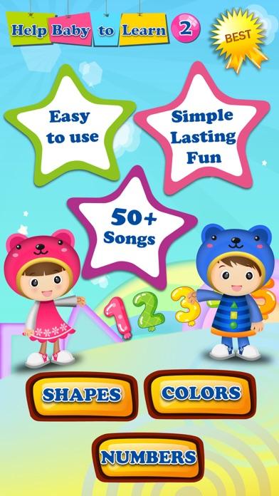 Baby ABC Numbers Math Nursery Rhymes Video Songs screenshot one