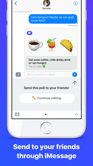 Emoji Poll - Send surveys to friends with iMessage Screenshot
