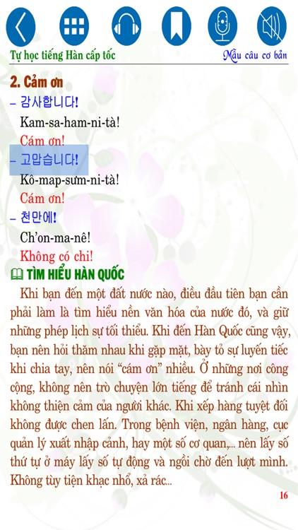 Tự học tiếng Hàn cấp tốc - Mẫu câu cơ bản screenshot-4