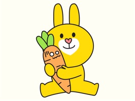 Yellow Bunny Animated Stickers for iMessage: