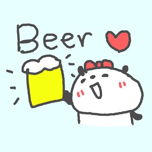 ビール大好き女子ステッカー