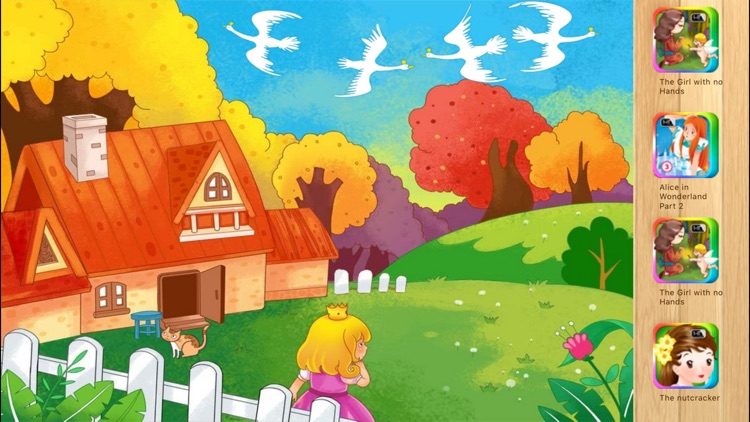 The Wild Swans Bedtime Fairy Tale iBigToy screenshot-3