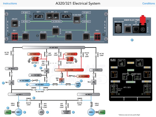airbus a320 321 interactive electrical diagram on the app store rh itunes apple com Basic Electrical Diagrams Home Electrical Wiring Diagrams