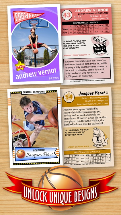 Basketball Card Maker (Ad Free) - Make Your Own Custom Basketball Cards with Starr Cards screenshot-2