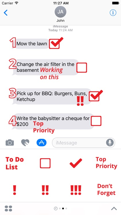 To Do List sticker pack - stickers for iMessage