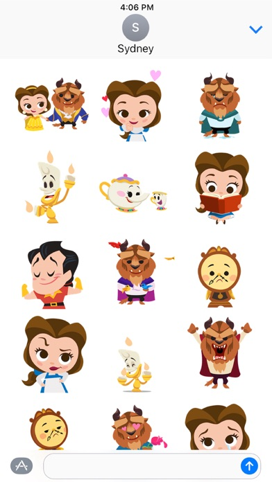 Disney Stickers: Beauty and the Beast Screenshot