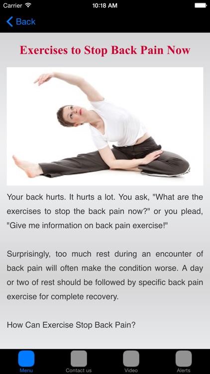 Lower Back Pain & Back Pain Treatment screenshot-3