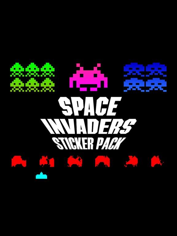 SpaceInvadersStickerPackのおすすめ画像1