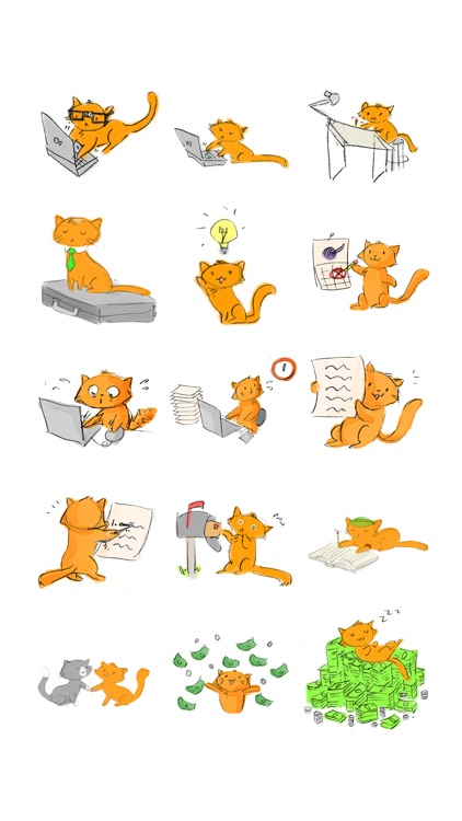 Orange the Cat Sticker Pack screenshot-3