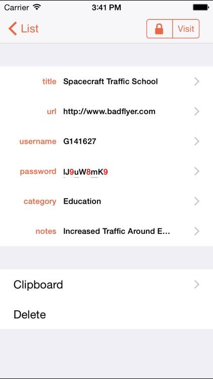 PasswordWallet - Password Manager screenshot-4