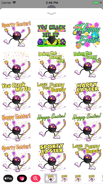 Easter Hockey Stickers