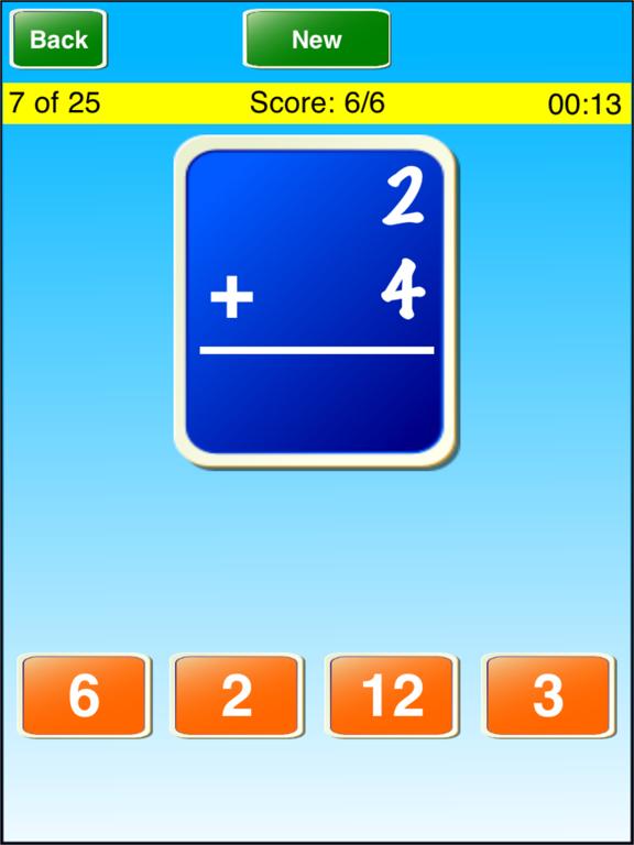Math Flash Cards ! ! Screenshot 1