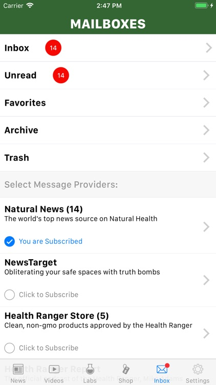 NaturalNews APP screenshot-1