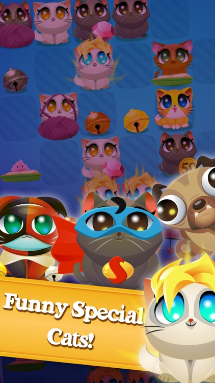 Cute Cats Match-4 screenshot-3