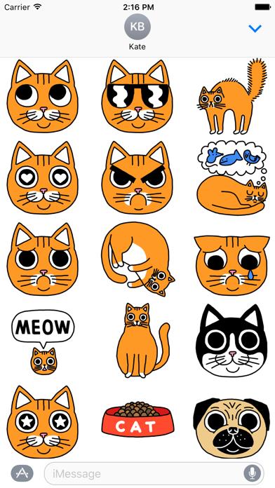 Orange Cat StickersScreenshot of 3