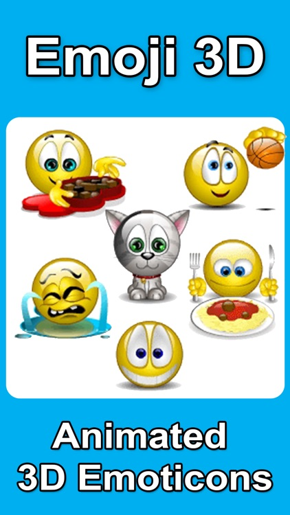 Animated Emojis - Emoji 3D - SMS Smiley Faces Sticker - FREE screenshot-0