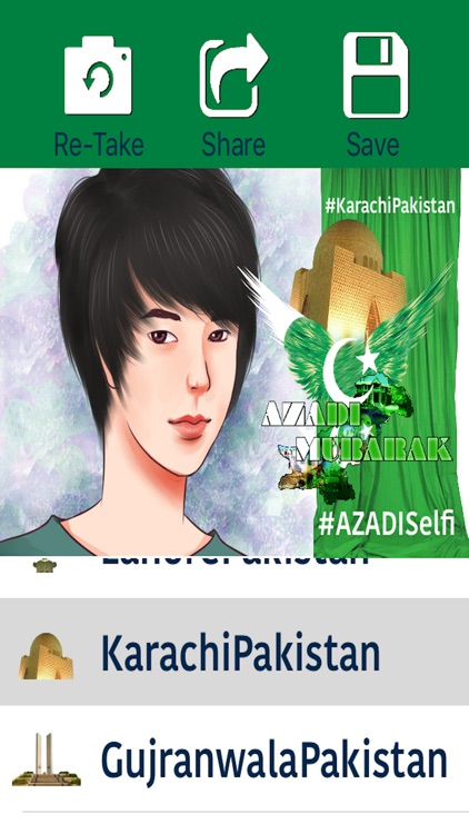 Azadi Selfie - Pakistan's independence day 14 August, A Green Day To Take and Share Selfies screenshot-3