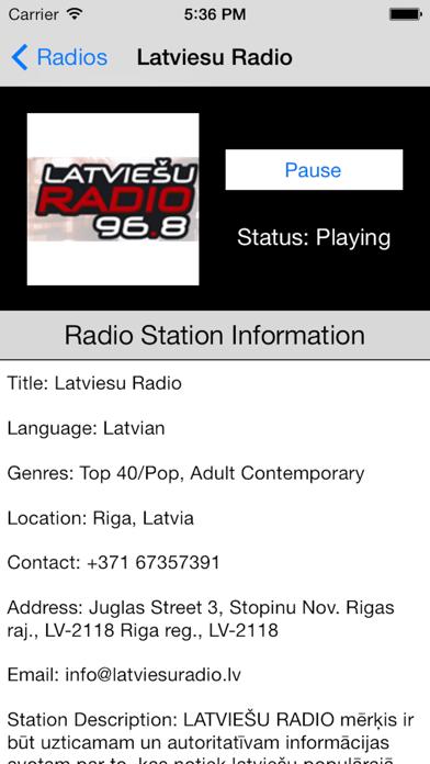 Latvia Radio Live Player (Latvian / Latvija / latviešu valoda) screenshot four