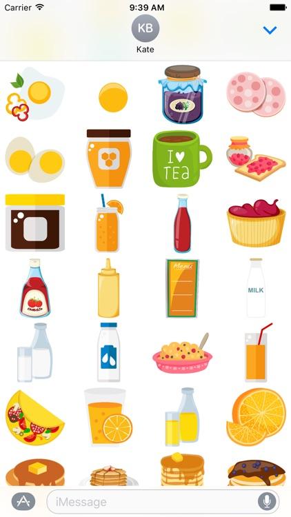 Breakfast Food for Stickers screenshot-3