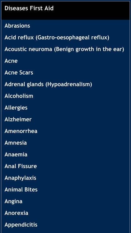 Disease first aid screenshot-0