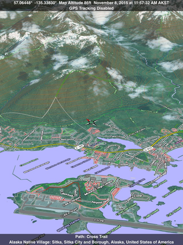 Scenic Map Alaska on the App