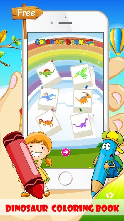 Dinosaur Coloring Book - Free For Toddler And Kids screenshot-4