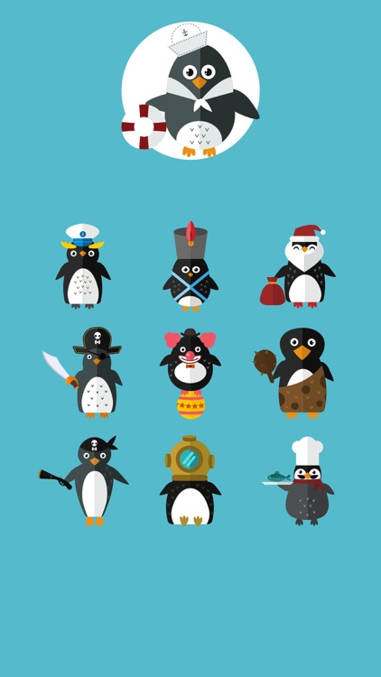 Penguins Undercover Stickers