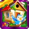 鳥の家を建てる - 小さなペット動物のための木の家を作る&それを飾りますアイコン