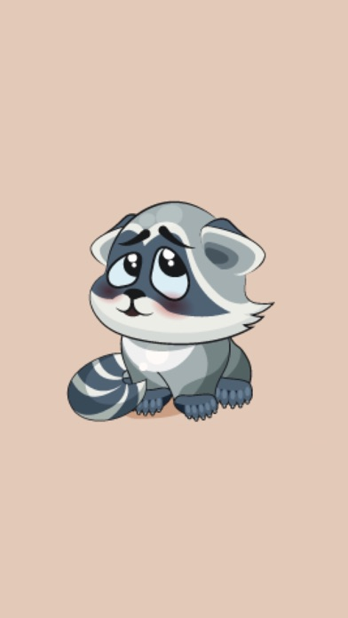 Raccoon StickersScreenshot von 1