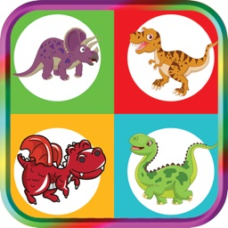 Dinosaurs Match Game for Kids brain training game For Toddlers