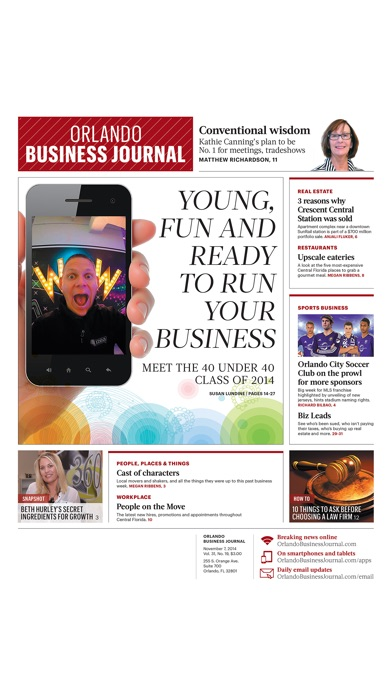 Orlando Business Journal review screenshots
