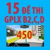 Thi sát hạch GPLX-15 đề - 450 câu