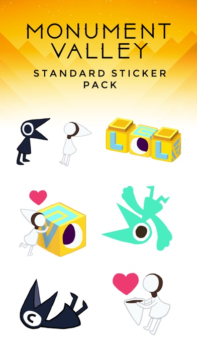 Monument Valley Stickers Screenshot on iOS