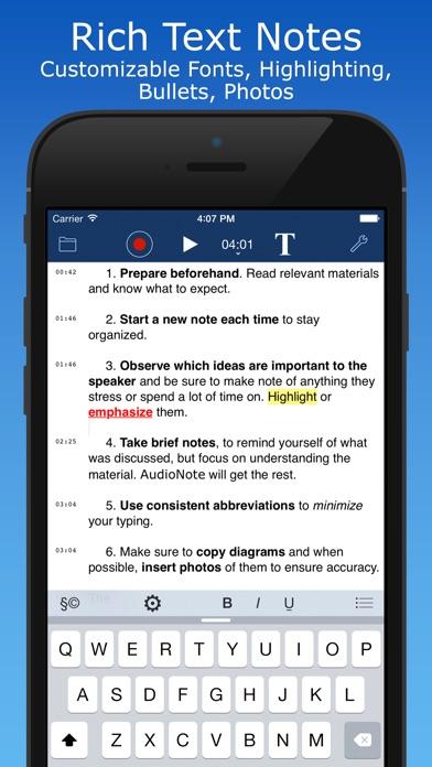 AudioNote 2 app image