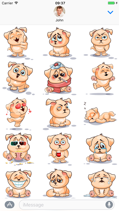 Dog - Stickers for iMessage screenshot one