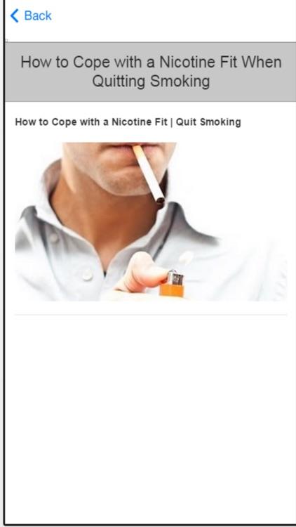 Quit Smoking Now - Self Help Tips To Stop Smoking screenshot-4