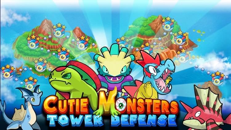 Cutie Monsters Tower Defense-Cute Monster Stickers screenshot-0