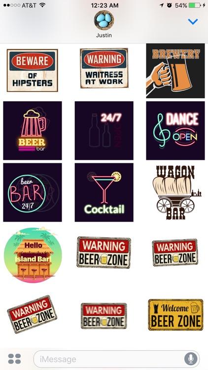 Bar Stickers screenshot-0
