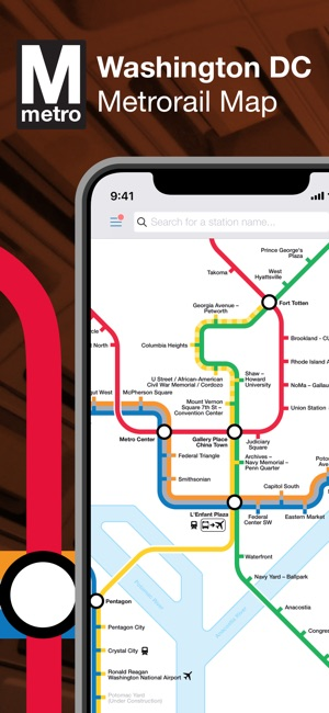 Washington DC Metro Route Map on the App Store on