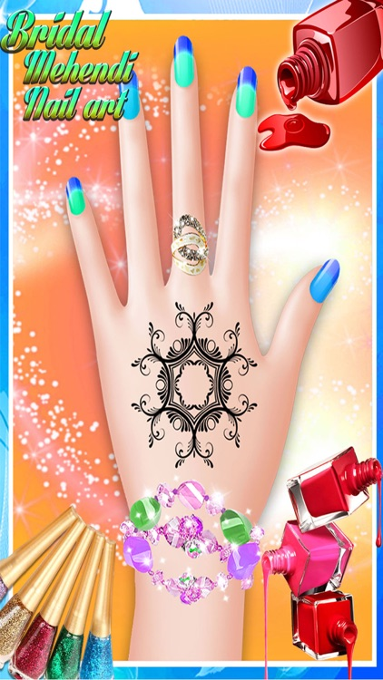 Bridal Mehndi and Nail Art - Manicure mehndi designer games for girls screenshot-3