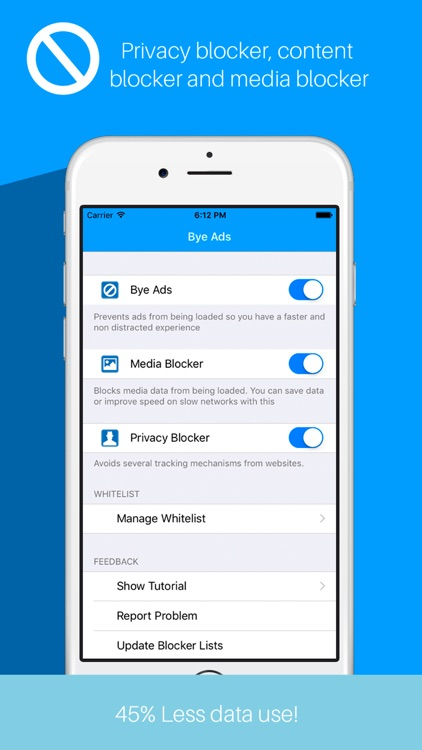 ByeAds: Block Ads & Browse fast!