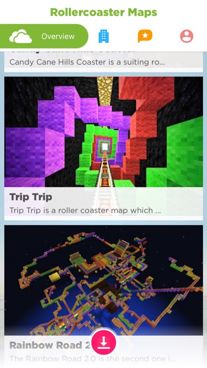 Roller Coasters in MINECRAFT PE Pocket Edition Map screenshot-3