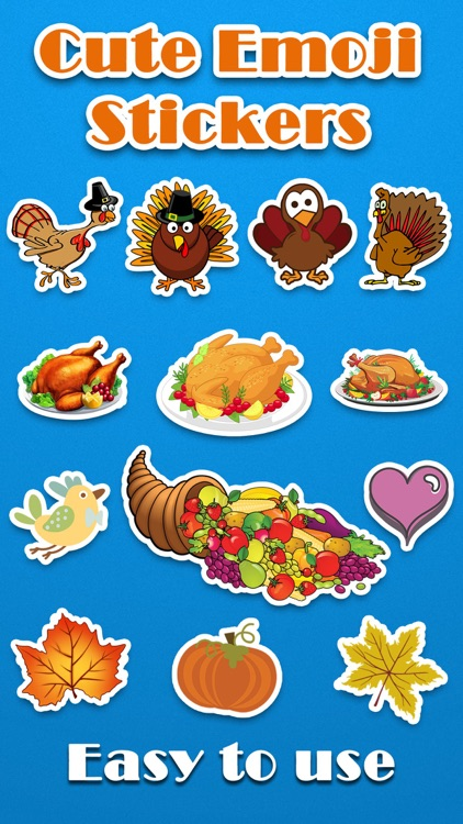 Thanksgiving Day Emoji Pro - Holiday Emoticon Stickers for Messages & Greetings